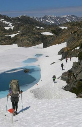 Chilkoot Trail, Alaska, Ice fields