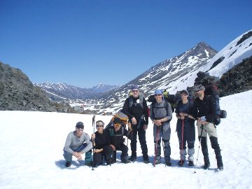 Chilkoot Trail,Alaska. hiking group
